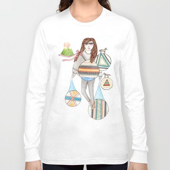 Patterns/Circles Long Sleeve T-shirt