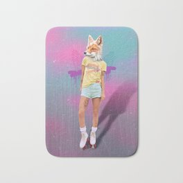 Roller Fox Girl Pepe Psyche Bath Mat