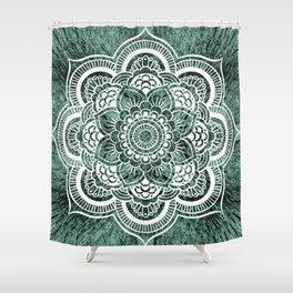 Mandala Subtle Green Colorburst Shower Curtain
