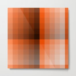 Monochromatic Orange Metal Print