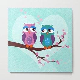 Love owls Metal Print