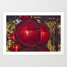 Christmas On 5th Avenue Manhattan 4 Art Print