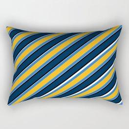 TEAM COLORS 1…Navy, gold ,white, light blue Rectangular Pillow