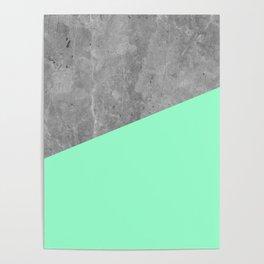 Geometry 101 Mint Meringue Poster