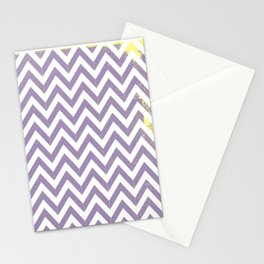 Chevron (Purple and Yellow) Stationery Cards