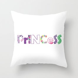 Princess lettering Throw Pillow