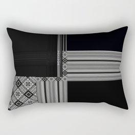 Multiple Black White Geometric Patterns Rectangular Pillow