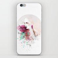 fashion illustration iPhone & iPod Skins featuring FASHION ILLUSTRATION 3 by Justyna Kucharska