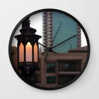 arab Wall Clocks featuring Dubai - Lamp outside Burj Al Arab by gdesai