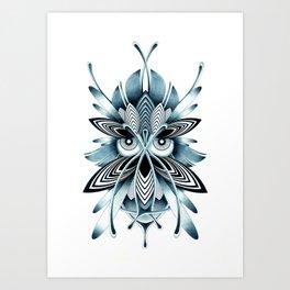 BLUE OWL Art Print