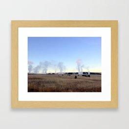 Bison at Sunrise Framed Art Print