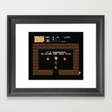 Punctuation is Everything Framed Art Print
