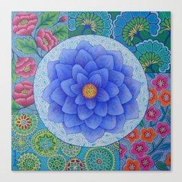 Violet Flower Mandala Canvas Print