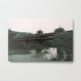 Chinese Bridge Metal Print
