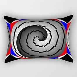 Double Yin Yang Spiral Rectangular Pillow