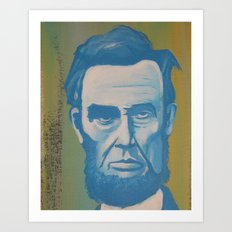 Blue Lincoln Art Print