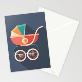 Baby Carriage Stationery Cards