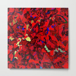 Retro Heart Camouflage No.3 Metal Print