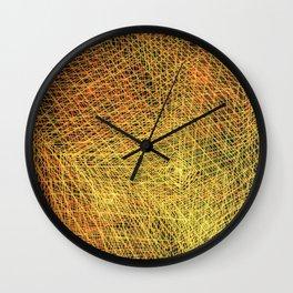 Gold square Wall Clock