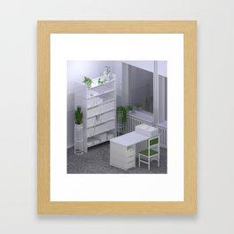 Interior #14 / Library Framed Art Print