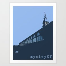 Ferry Building from the dock Art Print
