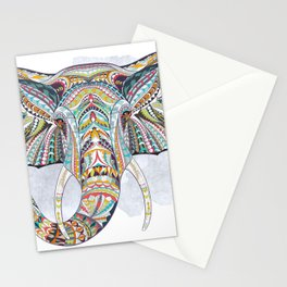 Colorful Ethnic Elephant Stationery Cards