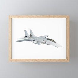 American F-14 Jet Fighter Framed Mini Art Print