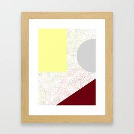 Wine & Cheese Geometric Sparkle Framed Art Print