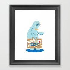 You're My Human Holiday Framed Art Print
