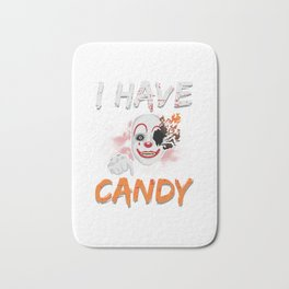 I Have Candy Scary Clown Spooky Halloween Bath Mat