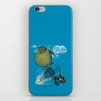 baloon iPhone & iPod Skins featuring pufferfish baloon by MR VELA