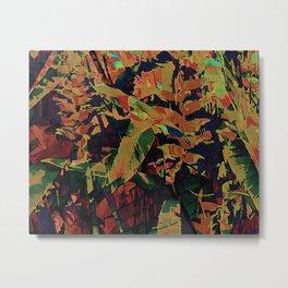 Flora Celeste Golden Sapphire Metal Print