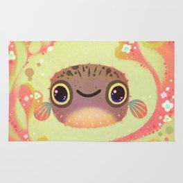 Smiling puffer Rug