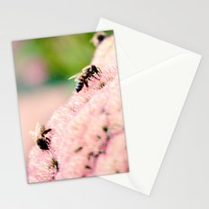 Bees on Flowers Stationery Cards