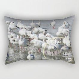 Les Oies Blanches : Kécéça ? - The White Geese : What's this? Rectangular Pillow