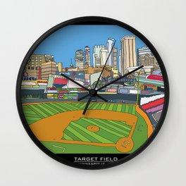 Minnesota Twins Target Field Wall Clock