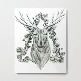 Reindeer All over print Metal Print