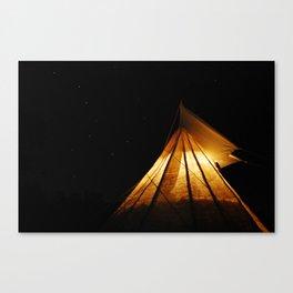 Big Dipper Over My Tipi Canvas Print
