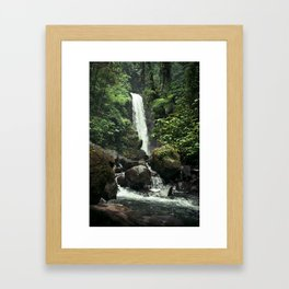 Lush Jungle Waterfall Looks Like Jurassic Park Framed Art Print