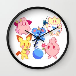 Baby Pocket Monsters Wall Clock