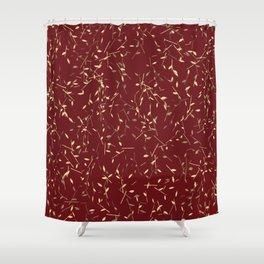 Golden Twigs Shower Curtain