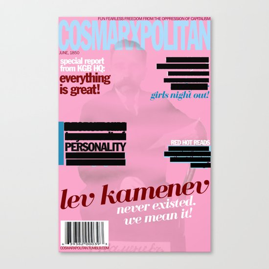 Cosmarxpolitan, Issue 12 Canvas Print