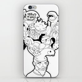 What's in your head iPhone Skin