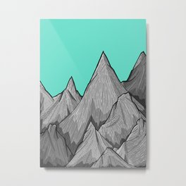 The Green Sky Over The Mountains Metal Print