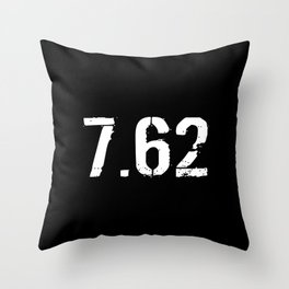 7.62 Ammo Throw Pillow