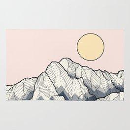 The sun and mountain Rug