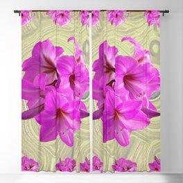 PINK AMARYLLIS FLOWERS MODERN ART Blackout Curtain