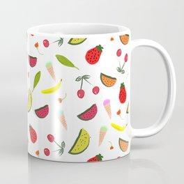 Vegan Goodies Pattern Coffee Mug