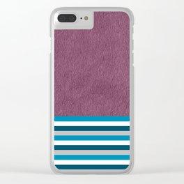 Stripes On Dark Purple (3) Clear iPhone Case