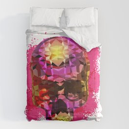 Skull with Crystal Polygon Comforters